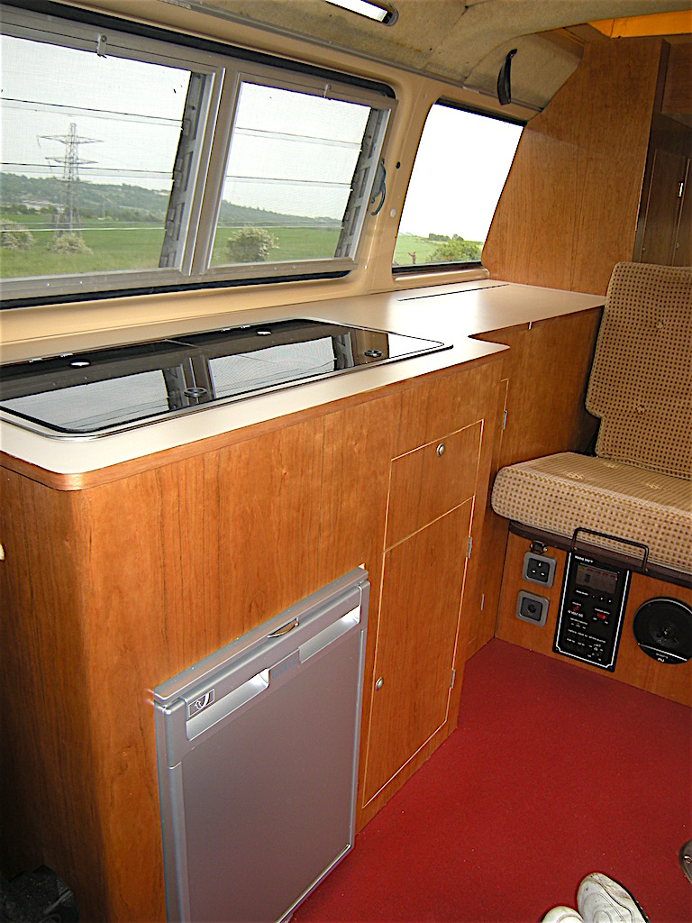 cherry wood t25   vw camper interiors