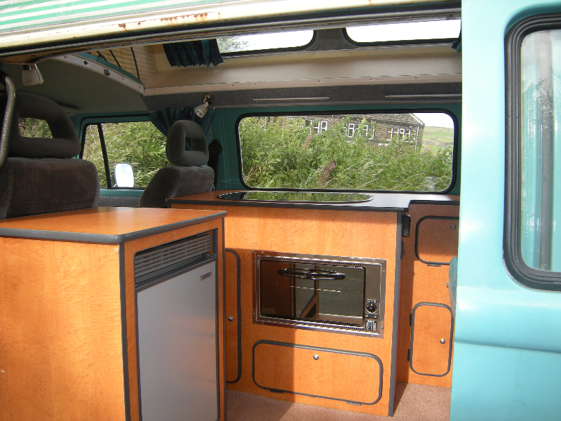 hand built interior for classic T2 camper