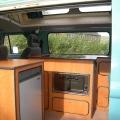 hand built interior for classic T2 camper