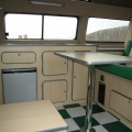 bay window camper interior