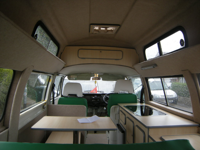 bay  camper interior