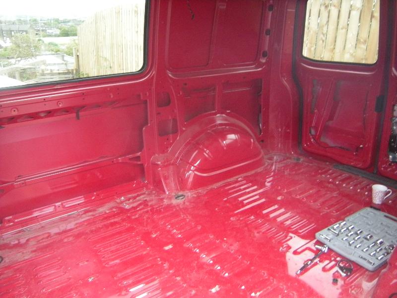 VW T5 camper van interior