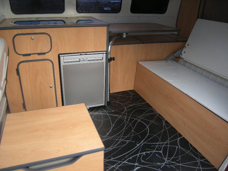Split screen camper interiors