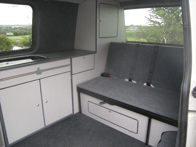T5 VW camper van interior