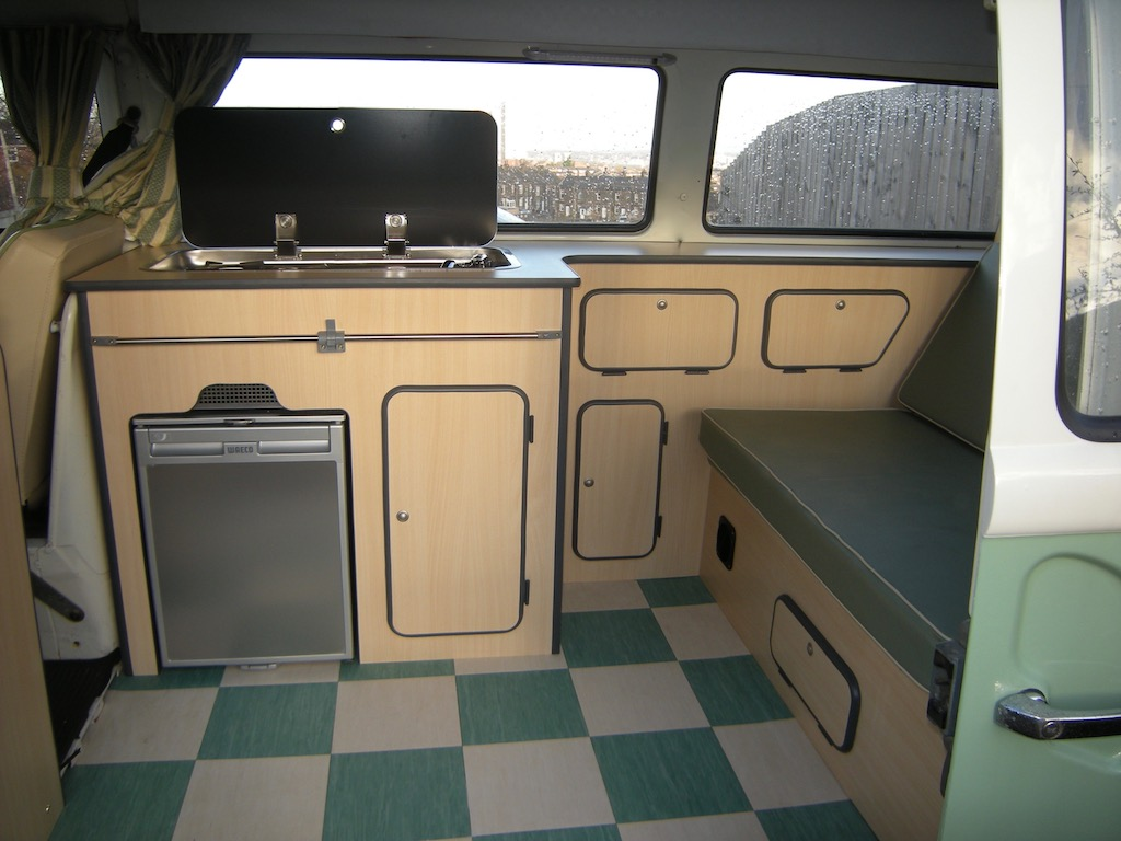 VW T2 Interior Extra Wide Bed