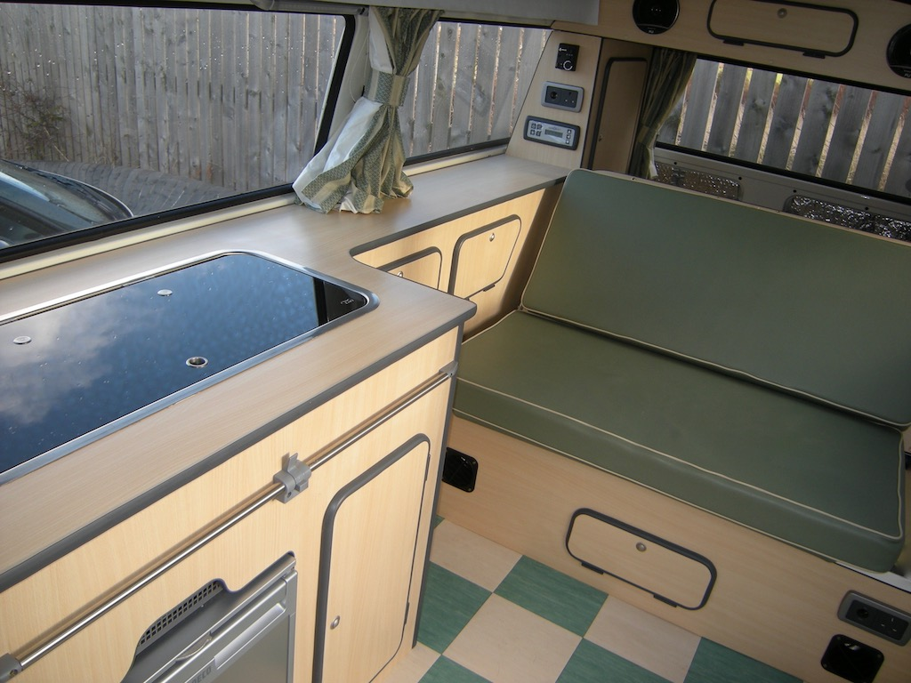 VW T2 Interior Slim units Large bed
