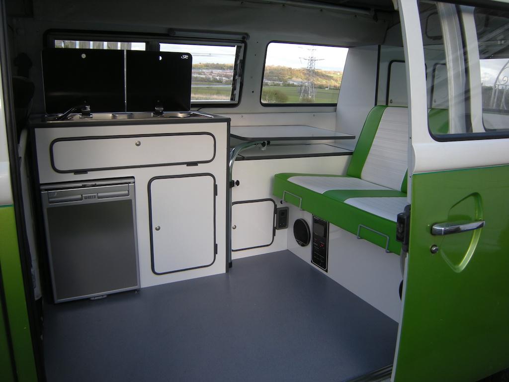vw bus interios
