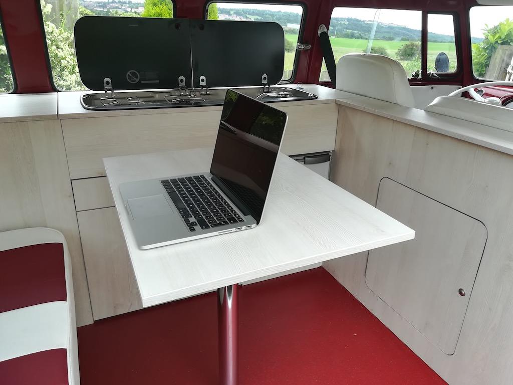 camper van table